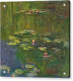 The Water Lily Pond Acrylic Print by Claude Monet
