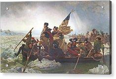 Washington Crossing The Delaware Acrylic Print by Emanuel Gottlieb Leutze