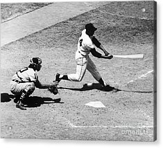 Willie Mays (1931- ) Acrylic Print by Granger