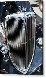30s Vintage Ford Hotrod With Chrome Greyhound Acrylic Print by Mike Reid
