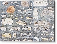 Stone Wall Acrylic Print by Tom Gowanlock