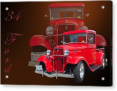 34 Ford Pick Up Acrylic Print by Jim  Hatch
