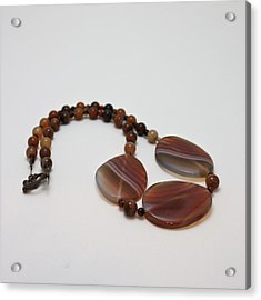 3543 Coffee Vein Agate Necklace Acrylic Print by Teresa Mucha