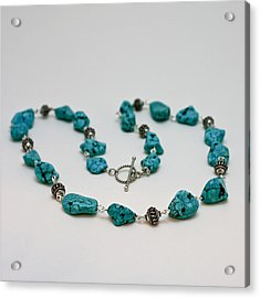 3599 Turquoise Necklace Acrylic Print by Teresa Mucha