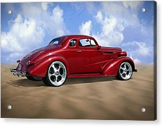 37 Chevy Coupe Acrylic Print by Mike McGlothlen