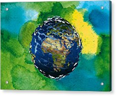 3d Render Of Planet Earth 14 Acrylic Print by Lanjee Chee