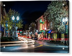 Franklin, Tennessee - 3rd And Main Acrylic Print by David Tutterrow
