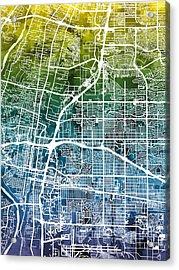 Albuquerque New Mexico City Street Map Acrylic Print by Michael Tompsett