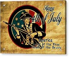 American Revolution Soldier General  Acrylic Print by Aloysius Patrimonio