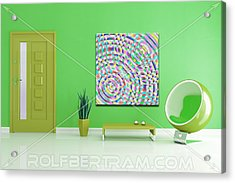 An Example Of Modern Art By Rolf Bertram In An Interior Design Setting Acrylic Print by Rolf Bertram