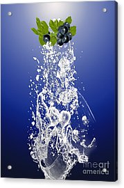 Blueberry Splash Acrylic Print by Marvin Blaine