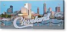 Cleveland Ohio Acrylic Print by Frozen in Time Fine Art Photography