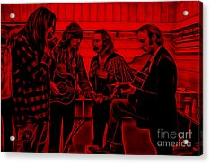 Crosby Stills Nash And Young Acrylic Print by Marvin Blaine