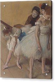 Dance Examination Acrylic Print by Edgar Degas