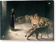 Daniel In The Lions Den Acrylic Print by Briton Riviere