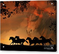 4-ever Free Acrylic Print by Stephanie Laird