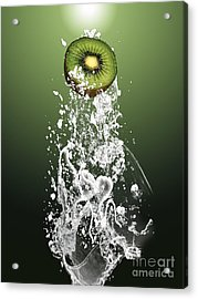 Kiwi Splash Acrylic Print by Marvin Blaine