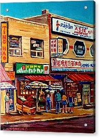 Montreal Paintings Acrylic Print by Carole Spandau