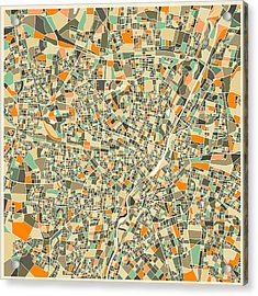 Munich Map Acrylic Print by Jazzberry Blue