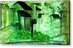 Pop Arts Landscapes Acrylic Print by J j Jin
