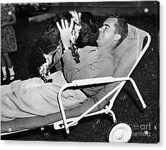 Richard Nixon (1913-1994) Acrylic Print by Granger