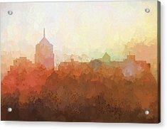 Roanoke Virginia Skyline Acrylic Print by Marlene Watson