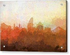 San Jose California Skyline Acrylic Print by Marlene Watson