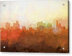 Springfield Illinois Skyline Acrylic Print by Marlene Watson