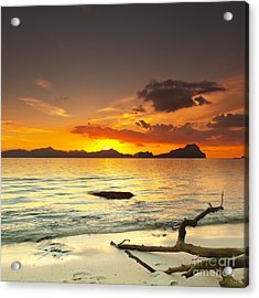 Sunset Acrylic Print by MotHaiBaPhoto Prints