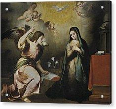 The Annunciation Acrylic Print by Bartolome Esteban Murillo