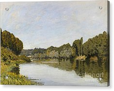 The Seine At Bougival Acrylic Print by MotionAge Designs