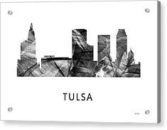 Tulsa Oklahoma Skyline Acrylic Print by Marlene Watson