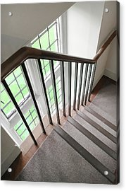Wooden Bannister Acrylic Print by Tom Gowanlock