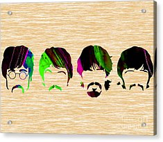 The Beatles Collection Acrylic Print by Marvin Blaine