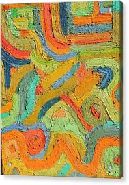 Sunset  No. 17 16 X 20 Oil On Board 2013 Acrylic Print by Radoslaw Zipper