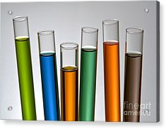 Laboratory Test Tubes In Science Research Lab Acrylic Print by Olivier Le Queinec