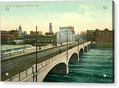 4th Street Bridge Waterloo Iowa Acrylic Print by Greg Joens