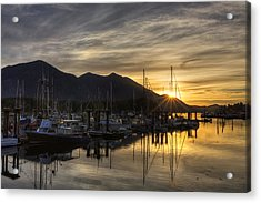 4th Street Docks Sunrise - Tofino Acrylic Print by Mark Kiver