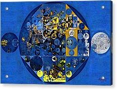 Abstract Painting - Oxford Blue Acrylic Print by Vitaliy Gladkiy
