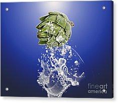 Artichoke Splash Acrylic Print by Marvin Blaine