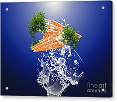 Carrot Splash Acrylic Print by Marvin Blaine