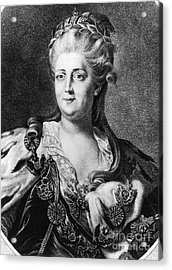 Catherine II (1729-1796) Acrylic Print by Granger