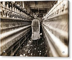 Child Laborer Portrayed By Lewis Hine Acrylic Print by Everett