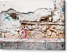 Damaged Wall Acrylic Print by Tom Gowanlock