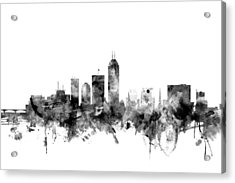 Indianapolis Indiana Skyline Acrylic Print by Michael Tompsett