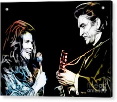June Carter And Johnny Cash Collection Acrylic Print by Marvin Blaine