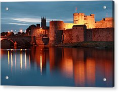 King John's Castle Limerick Ireland Acrylic Print by Pierre Leclerc Photography