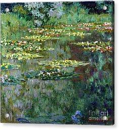 Le Bassin Des Nympheas Acrylic Print by Claude Monet