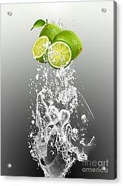 Lime Splash Acrylic Print by Marvin Blaine