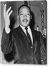 Martin Luther King Jr Acrylic Print by American School